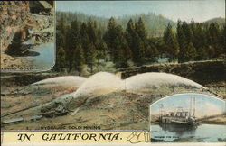 Hydraulic Gold Mining in California.