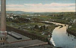 Millinocket Strean from Mill Postcard