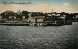 Wharf and Waterfront Postcard