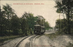 Reverse Curve in Interurban Postcard