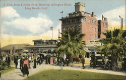 A View from Lincoln Park Showing Arlington Hotel