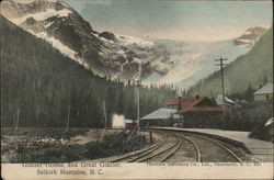 Glacier House and Great Glacier, Selkirk Mountains