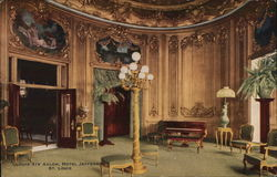 Louis XIV Salon, Hotel Jefferson Postcard