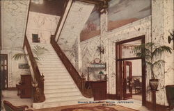 Grand Stairway, Hotel Jefferson Postcard