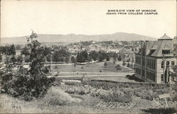 Bird's Eye View from College Campus Postcard