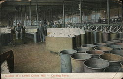 Interior of a Lowell Cotton Mill, Carding Room