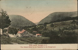 Echo Notch, The Oldest Hotel in the Catskills in the Foreground