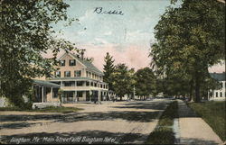 Main Street and Bingham Hotel Postcard