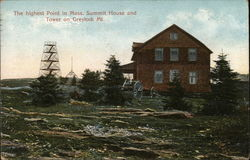 The Highest Point in Mass. Postcard