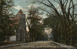 Winslow Cong. Church and Winthrop St.