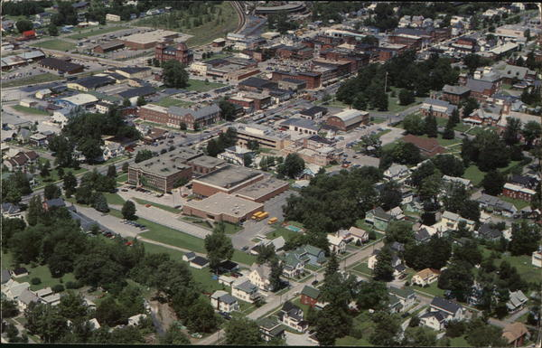 Aerial View of City St. Albans Vermont