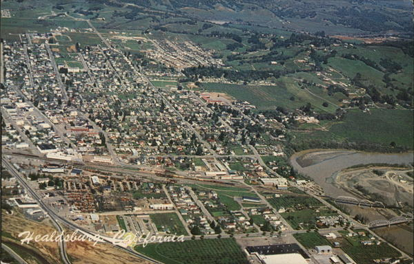 Aerial View Healdsburg California