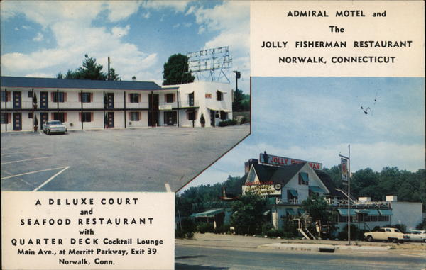 Admiral Motel and Jolly Fisherman Restaurant Norwalk Connecticut