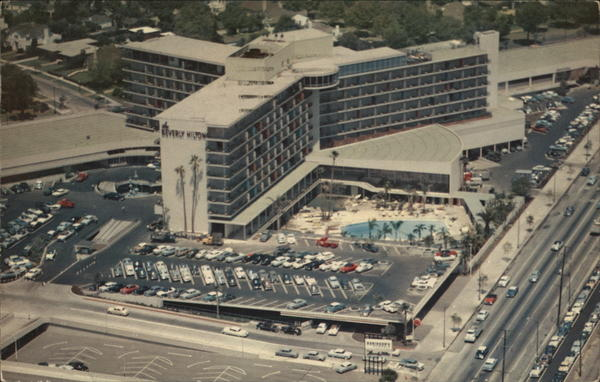 Aerial View of Beverly Hilton Hotel Beverly Hills California