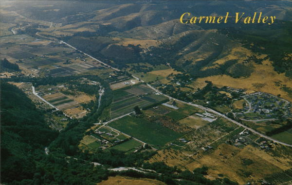 Aerial View Showing famed Carmel Valley California