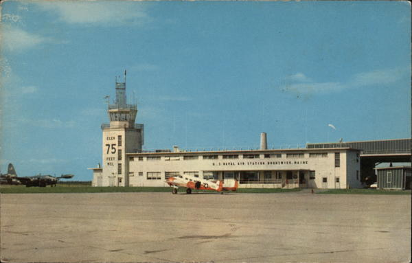 Operations Building and Tower, U.S. Naval Air Station Brunswick Maine