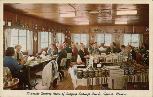 Riverside Dining Room of Singing Springs Ranch Agness Oregon