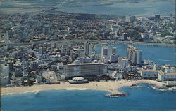Condado and Miramar Residential Areas Postcard