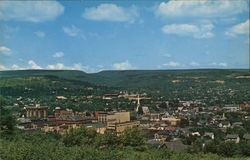 Hilltop View of Town Postcard