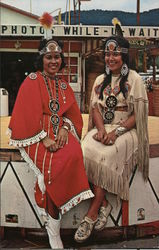 Toni Feather and Ann Walkingstick Postcard