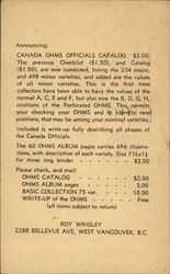 Canada Ohn's Official Catalog Solicitation