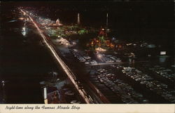 Night-Time Along the Famous Miracle Strip