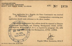Air Force Correspondence Card