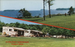 Flying Point Campground Postcard