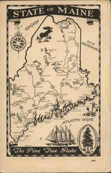 Map of State of Maine