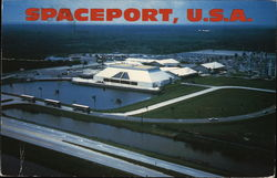 Aerial View of Spaceport, USA Postcard