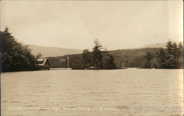Islands Looking Towards Adams Camp North Lovell Maine