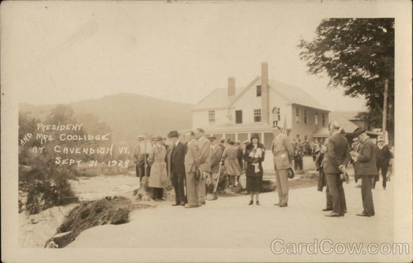 President and Mrs. Coolidge Cavendish Vermont Presidents