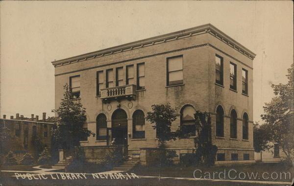 Public Library Nevada Ia Postcard