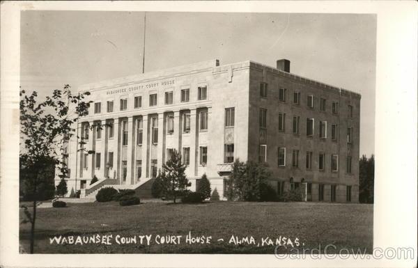 Wabaunsee County Court House Alma Kansas