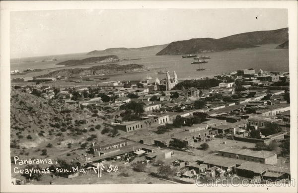 Aerial View of Town Guaymas Mexico