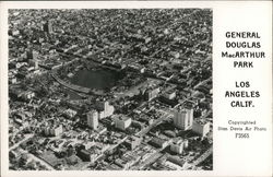 Aerial View of General Douglas MacArthur Park Postcard