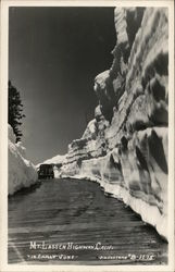Mt. Lassen Highway in Early June (Snow Banks) Postcard