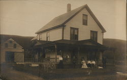 Snapshot of Family on Home's Porch, Bicycle