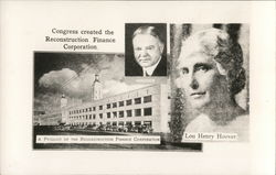 Congress Created the Reconstruction Finance Corp. - Hoover - Lou Henry Hoover
