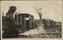 W.S.E. Engines Pulling Standard Gauge Coal Cars Over Tracks