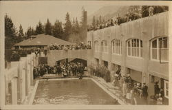 Swimming Pool Along Line of Canadian Pacific Railway