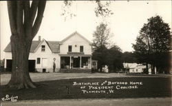 Birthplace and Boyhood Home of President Coolidge Postcard