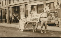 Horse and Cart Decorated for Parade for Williams Market