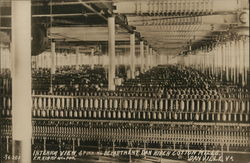 Interior View, Spinning Department, Dan River Cotton Mills