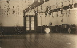 Band Instruments in Empty Decorated Dance Hall #521