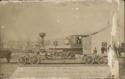 Locomotive Pulled by Horses