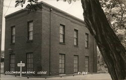 Columbia Masonic Lodge Postcard