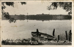 State Hospital From Across the Lake Postcard