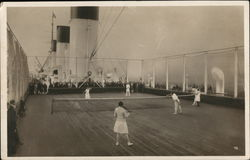 Tennis on a Steam Ship