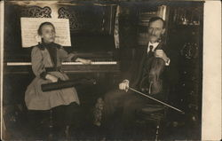 Musical Couple with Piano and Violin